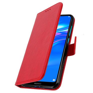 Avizar Etui folio Rouge pour Huawei Y7 2019 pas cher