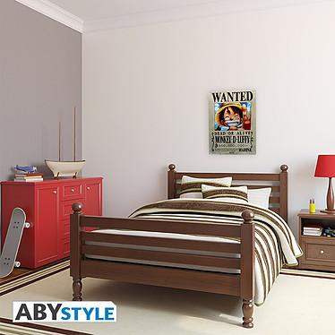 Avis ONE PIECE - Plaque métal Luffy Wanted (28x38)