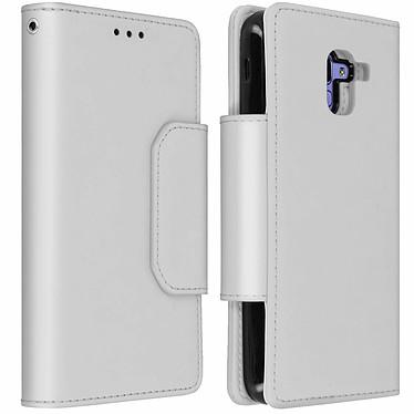 Avizar Etui folio Argent Porte-Carte pour Samsung Galaxy J6 Etui folio Argent avec porte-carte Samsung Galaxy J6