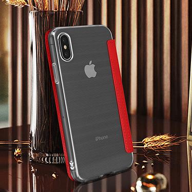 Avis Avizar Etui folio Rouge Miroir pour Apple iPhone XS Max