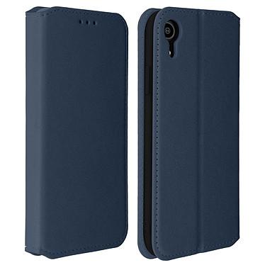 Avizar Etui folio Bleu Nuit Éco-cuir pour Apple iPhone XR Etui folio Bleu Nuit éco-cuir Apple iPhone XR