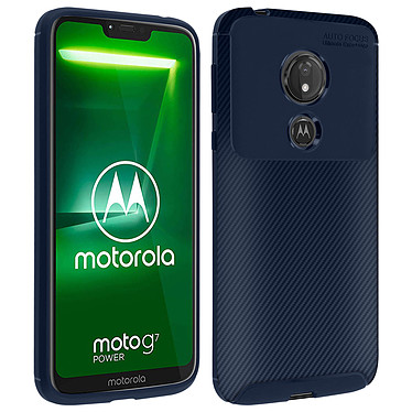 Avizar Coque Bleu Nuit pour Motorola Moto G7 Power Coque Bleu Nuit Motorola Moto G7 Power