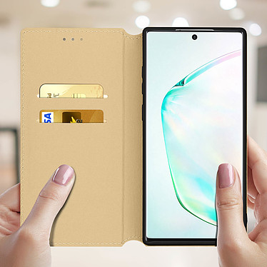 Acheter Avizar Etui folio Dorée Éco-cuir pour Samsung Galaxy Note 10 Plus