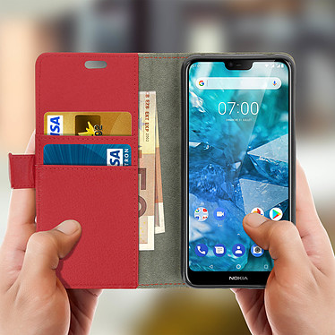 Acheter Avizar Etui folio Rouge pour Nokia 7.1