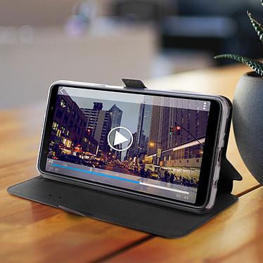 Avis Avizar Etui folio Bleu Nuit Éco-cuir pour Samsung Galaxy A7 2018