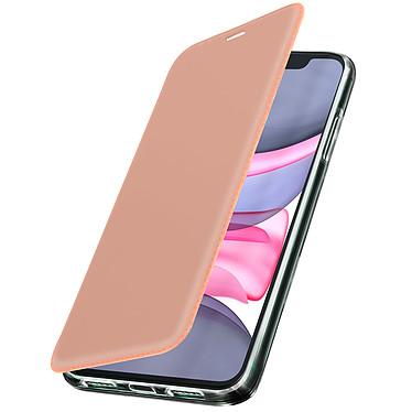 Avizar Etui folio Rose Champagne Miroir pour Apple iPhone 11 Etui folio Rose Champagne miroir intégré Apple iPhone 11
