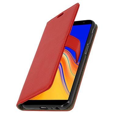 Avizar Etui folio Rouge Portefeuille pour Samsung Galaxy J6 Plus pas cher