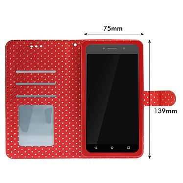 Acheter Avizar Etui folio Rouge pour Smartphones de 5.0' à 5.3'