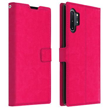 Avizar Etui folio Rose Portefeuille pour Samsung Galaxy Note 10 Plus Etui folio Rose portefeuille Samsung Galaxy Note 10 Plus
