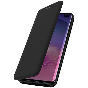 Avizar Etui folio Noir Stand Vidéo pour Samsung Galaxy S10 Plus pas cher