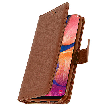 Avizar Etui folio Marron pour Samsung Galaxy A20e pas cher
