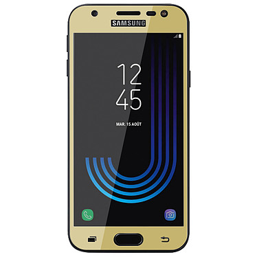 Avizar Film verre trempé Dorée pour Samsung Galaxy J3 2017 pas cher