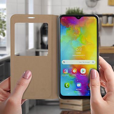 Acheter Avizar Etui folio Dorée pour Samsung Galaxy M20