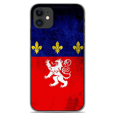 1001 Coques Coque silicone gel Apple iPhone 11 motif Drapeau Lyon Coque silicone gel Apple iPhone 11 motif Drapeau Lyon