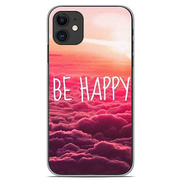 1001 Coques Coque silicone gel Apple iPhone 11 motif Be Happy nuage Coque silicone gel Apple iPhone 11 motif Be Happy nuage