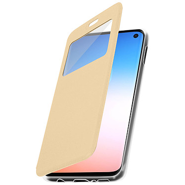 Avizar Etui folio Dorée pour Samsung Galaxy S10e pas cher