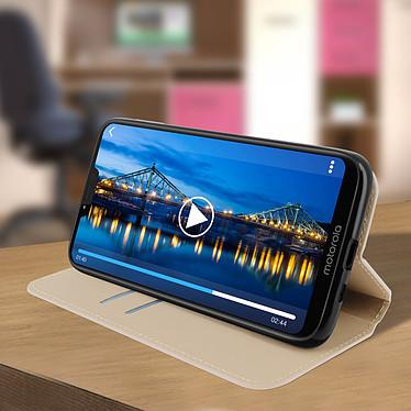 Avis Avizar Etui folio Dorée pour Motorola Moto G7 Power