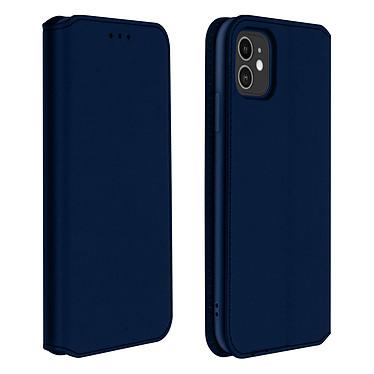 Avizar Etui folio Bleu Nuit Éco-cuir pour Apple iPhone 11 Etui folio Bleu Nuit éco-cuir Apple iPhone 11