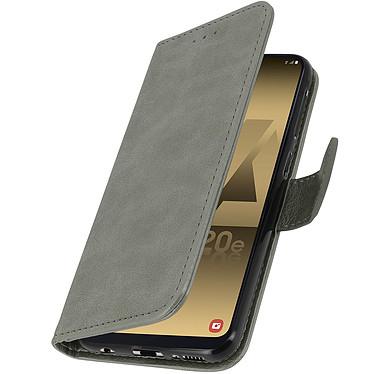 Avizar Etui folio Gris pour Samsung Galaxy A20e pas cher