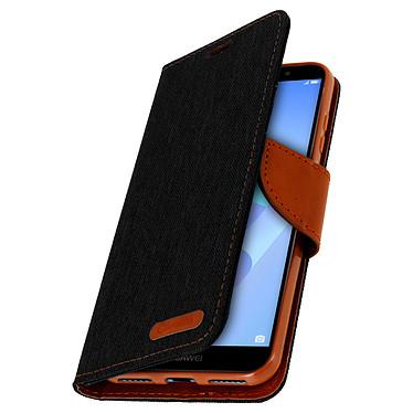 Avizar Etui folio Noir pour Huawei Y6 2018 pas cher