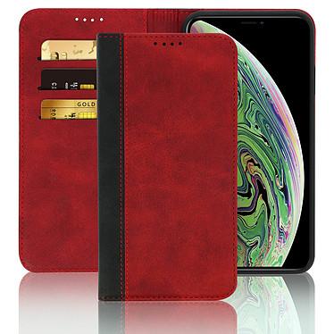 Avizar Etui folio Rouge Éco-cuir pour Apple iPhone XS Max pas cher