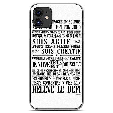 1001 Coques Coque silicone gel Apple iPhone 11 motif Citation 11 Coque silicone gel Apple iPhone 11 motif Citation 11
