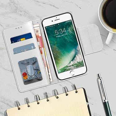 Acheter Avizar Etui folio Argent pour Apple iPhone 7 , Apple iPhone 8 , Apple iPhone SE 2020