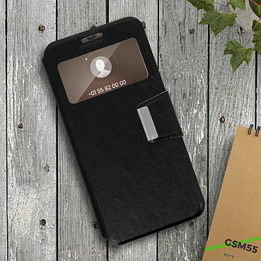 Acheter Avizar Etui folio Noir à fenêtre pour Huawei Mate 20
