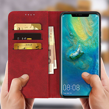 Avis Avizar Etui folio Rouge Éco-cuir pour Huawei Mate 20 Pro
