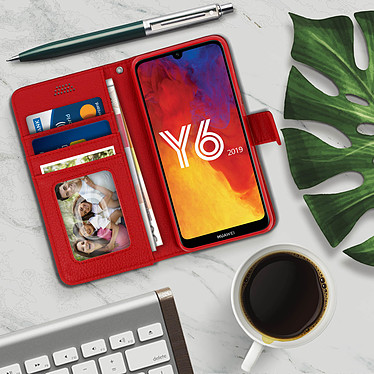 Acheter Avizar Etui folio Rouge pour Honor 8A , Huawei Y6 2019 , Huawei Y6S