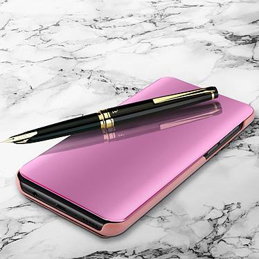 Avizar Etui folio Rose Champagne pour Samsung Galaxy M20 pas cher