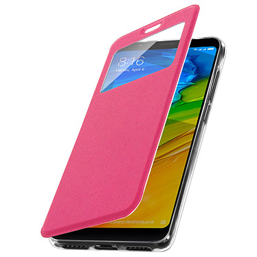 Avizar Etui folio Rose pour Xiaomi Redmi 5 pas cher