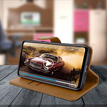 Avis Avizar Etui folio Marron Porte-Carte pour Xiaomi Redmi Note 7