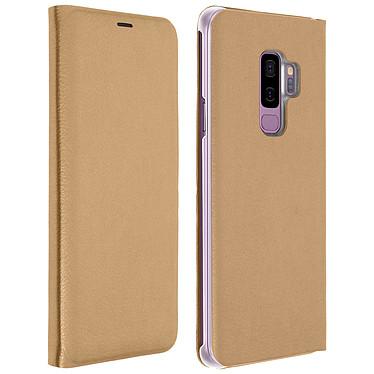 Avizar Etui folio Dorée pour Samsung Galaxy S9 Plus Etui folio Dorée Samsung Galaxy S9 Plus