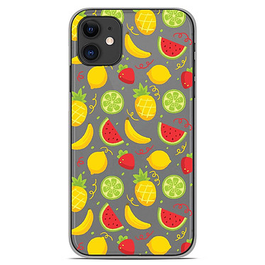 1001 Coques Coque silicone gel Apple iPhone 11 motif Fruits tropicaux Coque silicone gel Apple iPhone 11 motif Fruits tropicaux