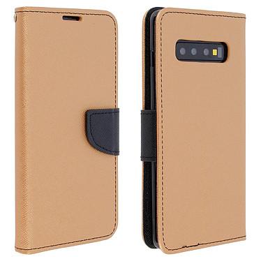 Avizar Etui folio Dorée Fancy Style pour Samsung Galaxy S10 Plus Etui folio Dorée Fancy Style Samsung Galaxy S10 Plus