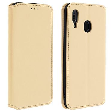 Avizar Etui folio Dorée pour Samsung Galaxy A30 Etui folio Dorée Samsung Galaxy A30