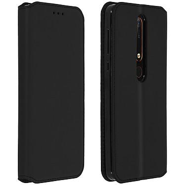 Avizar Etui folio Noir pour Nokia 6.1 pas cher