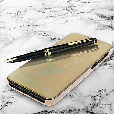 Avizar Etui folio Dorée pour Huawei Y7 2019 pas cher