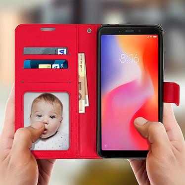 Avizar Etui folio Rouge pour Xiaomi Redmi 6A, Xiaomi Redmi 6 pas cher