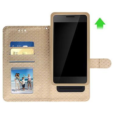 Avis Avizar Etui folio Dorée pour Smartphones de 5.3' à 5.5'