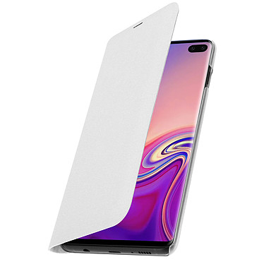 Avizar Etui folio Blanc pour Samsung Galaxy S10 Plus pas cher