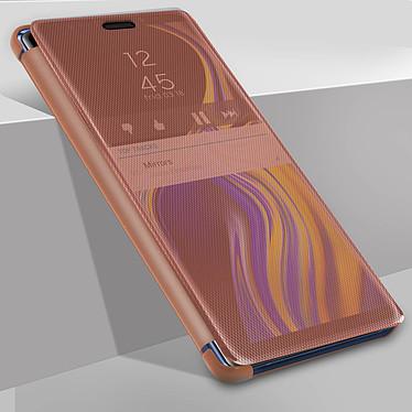Avizar Etui folio Rose Champagne Translucide pour Samsung Galaxy Note 9 pas cher