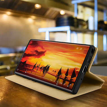 Avis Avizar Etui folio Dorée Éco-cuir pour Samsung Galaxy Note 10 Plus