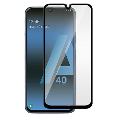 Avizar Film verre trempé Noir pour Samsung Galaxy A40 pas cher