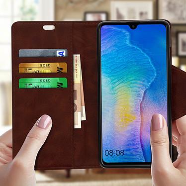 Avis Avizar Etui folio Marron Éco-cuir pour Huawei Mate 20