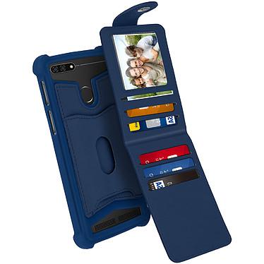 Avizar Coque Bleu Nuit pour Compatibles avec Smartphones de 4,7 à 5,0 pouces pas cher