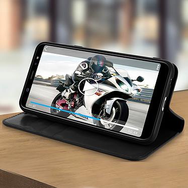 Avis Avizar Etui folio Noir Cuir véritable pour Samsung Galaxy A6 Plus