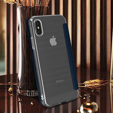 Avis Avizar Etui folio Bleu Nuit Miroir pour Apple iPhone X , Apple iPhone XS