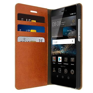 Avizar Etui folio Marron pour Huawei P8 Etui folio Marron Huawei P8